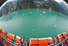 Carnival Legend. Alaska. (Infinity & Beyond Photography) Tags: carnival legend cruise ship alaska cruising photos images endicottarm insidepassage alaskan lines lifeboats mountains water ice snow boats samyang 8mm fisheye