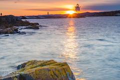 Golden Hour (markmorgen) Tags: harbor lighthouse sunset