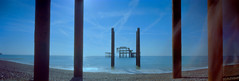 west pier (nuszka) Tags: realitysosubtle pinhole wideangle brighton westpier analogue film filmwins filmisnotdead colourprocessing ektar