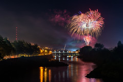 """""""Strabane - Halloween Fireworks Display 2018"""" (Gareth Wray - 10 Million Views, Thank You) Tags: water summer northern ireland bridge main night halloween firework fireworks melvin wall street ni uk scenic landscape riverscape sperrins county tyrone gareth wray photography strabane nikon d810 nikkor wide lens sky tourist tourism mourne river site visit country side reeds grass gods reflection reflections british irish colourful derry council bank nature flowing photographer town lifford border day vacation holiday europe show footbridge pedestrian walk 2470mm 2018 foot display"""