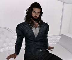 Pinstriped. (☾☾Ṁṣ Ṃȭłłỳ ☽☽) Tags: hot handsome dude guy sexy fashion cute belleza catwa daniel