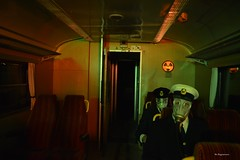The Zone Night Train (Bo Ragnarsson) Tags: thezone night nighttrain chernobyl pripyat stalker fallout cosplay uniform twisted gasmask respirator train boragnarsson radioactive radiation contaminated apocalypsedeacadence gp5