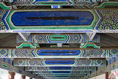 Painted beams in the Temple of Heaven, Beijing, China (Miche & Jon Rousell) Tags: china beijing templeofheaven temple beams blue green