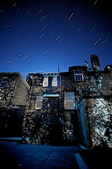 Backyard Star Trails (matthewblackwood10) Tags: back yard backyard star trails stars night dark sky clear house shadows light shadow leave tree garden home window windows lights astro scotland uk timelapse time lapse long exposure sony a6000 sayang 12mm