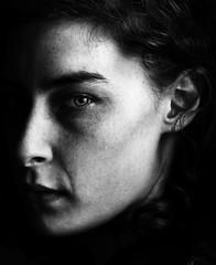 Lily (.Betina.) Tags: lily bb betinalaplante blackandwhite monochrome mood mono moody portrait portraiture girl woman face beauty dark stark 2018 london