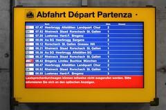 SBB - Announcement Problems (Kecko) Tags: 2018 kecko swiss switzerland schweiz suisse svizzera ostschweiz stmargrethen öv sbb transport bahn eisenbahn railway railroad timetable display anzeige fahrplan europe rheintalbild swissphoto geotagged geo:lat=47453540 geo:lon=9637410