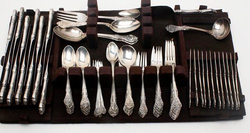 102 pieces of Gorham King Edward flatware ($1,400)