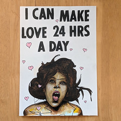 I can make love 24 hours a day (id-iom) Tags: girl love 24 hours painting ebay sale art modern contemporary pop urban sexy lady woman viagra sex