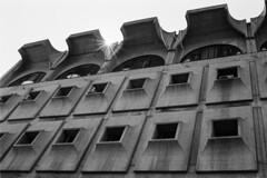 Brutalism (Alessio Vincenzo Liquori) Tags: pentax pentaxmz50 40mmf28limited kodaktmax400 kodak tmax pushed film filmphotography blackandwhite blackwhite skopje скопје architecture brutalism concrete earthquake