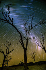 Awoonga Dam, at Night (cantdoworse) Tags: awoonga dam gladstone night star trails canon 6d
