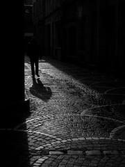 battre le pavé (objet introuvable) Tags: blackandwhite noiretblanc bw nb rue street streetview pavé silhouette light lumière shadow lignes lille urbanlife urban urbain monochrome lumixgx8 lumix panasonic ombre contrast contraste mood atmosphère