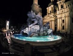 Fontana illuminata (ioriogiovanni10) Tags: buonanotte goodnight bonnenuit nuit hero6 gopro piazzanavona luci light notte citybynight roma
