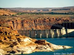 Colorado River with Glenn Canyon Dam, Overlook, Arizona (Alexander Den Ouden) Tags: arizona coloradoriver lakepowell glenncanyondam page lakepowellgolfcourse