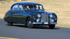 Jaguar Mark VII M (Jungle Jack Movements (ferroequinologist)) Tags: jaguar mark vii 7 seven m jag big cat sydney motorsport park classic veteran vintage car show festival eastern creek nsw new south wales model sedan auto automobile chrome polish shine vehicle motor saloon collectable old historic history rare beautiful restored hottie injected fast great drive speed wheel exhaust rumble paint seat hood horsepower inches hp bhp drag gear shift clutch tour owner proud colour color transport pride engine road brit british britain type