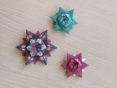 12-pointed stars, designed by  Peter Keller (Orizuka) Tags: star origami peterkeller hexagon