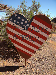 God Bless America Sign in the American Southwest (albatz) Tags: american southwest usa cowboy godblessamerica sign heart