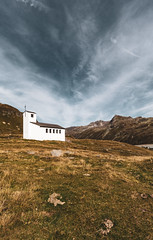 Barbara Kapelle (MandelriegelxD) Tags: gebirge wolken kirche silvretta fels architektur alpen