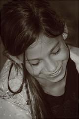 The Joy of the Game (endresárvári) Tags: portrait monochrome bw smile smiling hungary hungarian girl hungariangirl littlegirl child preteen cute cutegirl nice beauty lovely