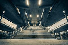 Stairway (stefanstipic) Tags: stairway stairs stair bw black white split tone bridge underneath belgrade serbia canon 1300d 1018mm photography