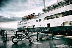 Norway - 2 Beauties (☺dannicamra☺) Tags: norway norge norwegen schiff motorrad mslofoten yamaha himmel strase ship motorbike sky street nikon 5100