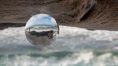 Cala de na Clara (saba1312) Tags: baleraren mallorca meer wellen naclara lensball kristallkugel glaskugel