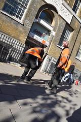 DSC_0890 London Bus Route #205 Whitechapel Testing for Gas (photographer695) Tags: london bus route 205 whitechapel testing for gas
