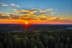 Another sunset (Arttu Uusitalo) Tags: evening sunset summer southern ostrobothnia lapua finland orange blue sky clouds forest woods landscape canon eos 5d mkiv tamron 2470