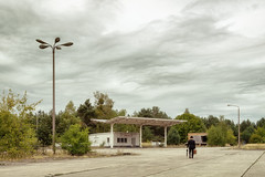 Errantry in Business Parks (Ralph Graef) Tags: lantern gas station desolation disused dilapidated urbex derelicted dystopia abandoned melancholia drab drabness