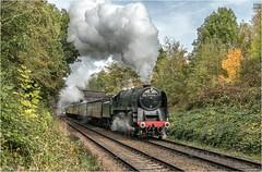 92214. Loughborough. (Alan Burkwood) Tags: gcr gcrautumngala br 9f 92214 steam locomotive passenger train loughborough a6bridge