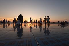 Sunset reflections (sarah_presh) Tags: zadar croatia holiday vacation light installation greetingtothesun monumenttothesun europe solar sunset town city outdoor nikond750