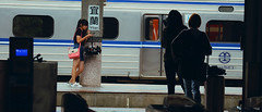 1013_016 (solarliu) Tags: taiwan fog rainy rain trip journey damp blue train bus station snap people passerby