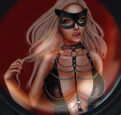 can't be tamed. (officialsavannahmohegan) Tags: savannah savannahmohegan mohegan avatar sl secondlife second life bimbo barbie blonde babe busty cleavage boobs tits breasts bdsm mistress mask black sexy erotic erotica