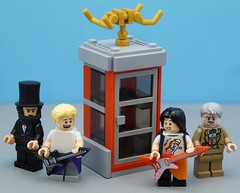 Time Traveling Phone Booth (Hobbestimus) Tags: bill ted lincoln freud excellentadventure lego 80s movie moc toys