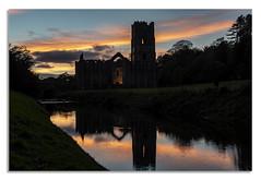 A nights walk at Fountains Abbey. E (johnhjic) Tags: johnhjic nikon d850 northyorkshire floodlight walk night fountains abbey clouds cloud