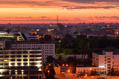 Waiting for the Sun (PHOKUZNET) Tags: morning dawn sky city cityscape aerial urban outdoors minsk belarus easterneurope europe