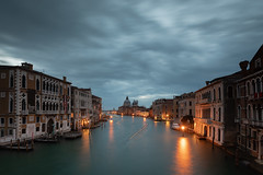 water line (andymcd) Tags: dawn italy venice boats bridge accademia canal provinceofvenice it
