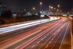 Speeding By (flashfix) Tags: november012018 2018inphotos flashfix flashfixphotography ottawa ontario canada nikond7100 55mm300mm longexposure lighttrails highway freeway city lights citylights commute traffic bridge road nightphotography
