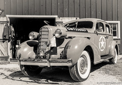 General's Staff Car (Jim Frazier) Tags: worldwar2 worldwarii worldwar 2018 20180922rockfordwwii 3d3layer bw antique apparatus army automobiles blackandwhite bluesky cars classic classiccars desaturated detail devices equipment fall general heritage historic historical history il illinois jimfraziercom machinery machines mechanical midwayvillagemuseum military monochrome old oldified park people q4 reenacting reenactment reenactments reenactors rockford sepia september soldiers staffcar study summer sunny transportation trucks uniform usarmy vehicles vintage war warfare ww2 wwii jfpblog facebook instagram f10