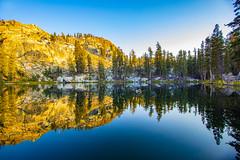 BareIslandLake8Sept1-18 (divindk) Tags: bareislandlake california maderacounty sierranationalforest backpacking camping granite lake quiet reflection serene sunlight sunset