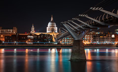 St. Paul's Cathedral (Fireproof Creative) Tags: london cityscape riverthames streetphotography cityphotography stpaulscathedral londoncity reflections fireproofcreative thames nightphotography londonatnight