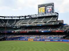 Citi Field, 08/26/18 (NYM v. WAS): Jeff McNeil at-bat graphics as shown on the left field ribbon boards in the bottom of the 5th inning (IMG_3038a) (Gary Dunaier) Tags: baseball stadiums stadia ballparks mets newyorkmets flushing queens newyorkcity queenscounty queensboro queensborough citifield