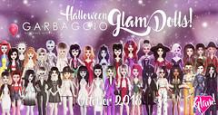 Halloween Glam Dolls Promo (Ashleey Andrew) Tags: garbaggio sl secondlife second life virtual world original mesh dolls gacha toys doll figurine figurines parody collectible glamour humor chic fashion the epiphany halloween spooky creepy fun