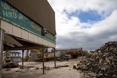 Operation Demolition (Lester Public Library) Tags: demolition downtown downtowntworivers tworiverswisconsin tworivers construction demo buildings equipment debris lesterpubliclibrarytworiverswisconsin readdiscoverconnectenrich