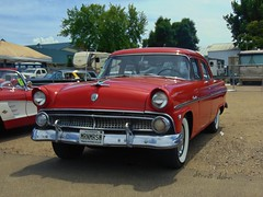 Red Ford Fourdoor (novice09) Tags: backtothefifties carshow ford 1955 customline fourdoor whitewalls ipiccy vinci