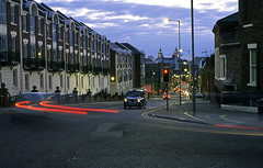 Upper Duke Street (Manuel Goncalves) Tags: fujivelvia100 nikonn90s 35mmfilm liverpool merseyside slide street taxi longexposure epsonv500scanner