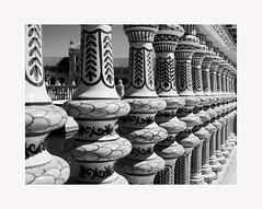 Sevilla 99 (BLANCA GOMEZ) Tags: spain sevilla seville andalucia andalusia light shadows mosaics silhouettes bw blackwhite plazadeespaña parquedemarialuisa anibalgonzalez exposicioniberoamericanade1929 heat hot