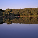 Sommerabend an einem See bei Karlsruhe thumbnail