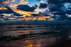 Magical Lake Michigan Sunset (Epperly Photographic Images) Tags: lake michigan sunset clouds waves nikon d800e