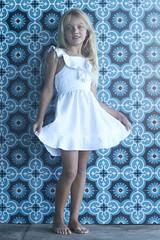 SS10120C LINEN DRESS White (1) (ZacaluZoo) Tags: miilovemu kids fashion boho children