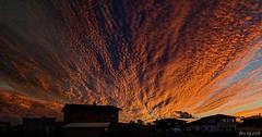 Fiery clouds on sunset (EQG64LOQDXKYEIAPTYHNDN5KHB) Tags: sunset loojang pentax k50 pilved clouds sürr tartu vahi eesti estonia panorama sky taevas cloudscape